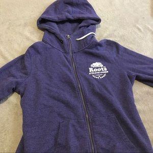 Purple Roots Zip Up Sweater